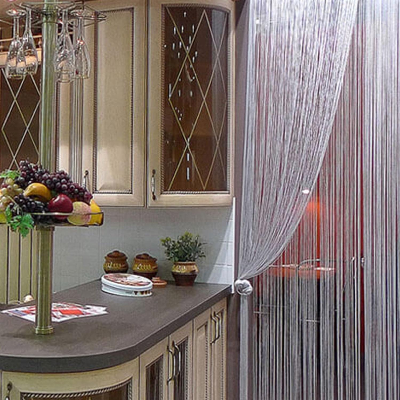 шторы нитки на кухне фото горы китая
