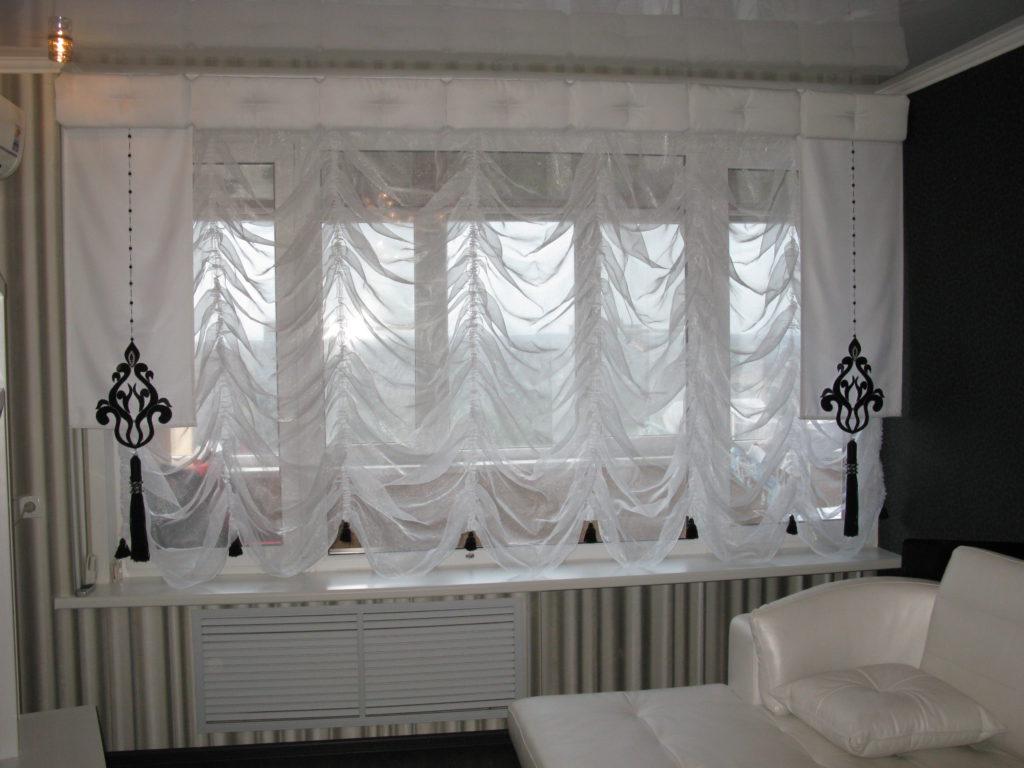 Изящное украшение окна - шторы из вуали