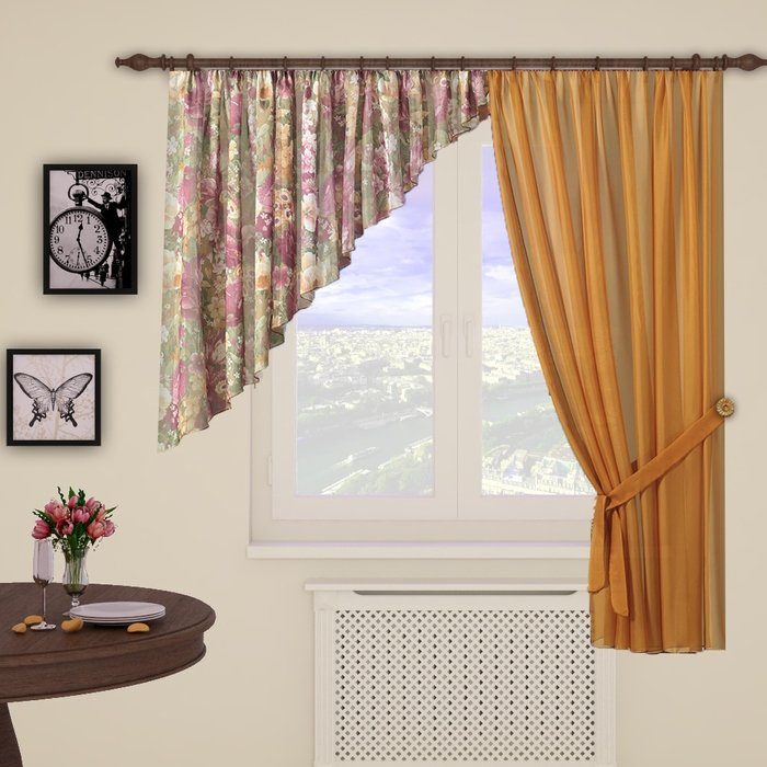 Фасоны штор на одну сторону фото
